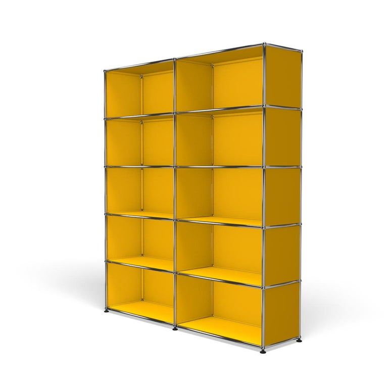 For Sale: Yellow (Golden Yellow) Haller Shelving H2 Storage System by USM 2