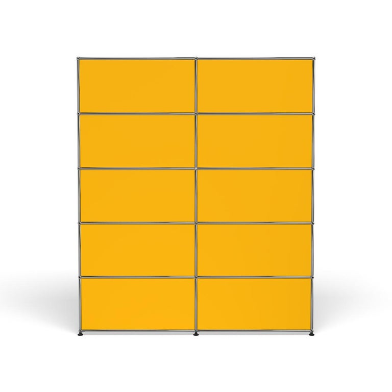 For Sale: Yellow (Golden Yellow) Haller Shelving H2 Storage System by USM 4
