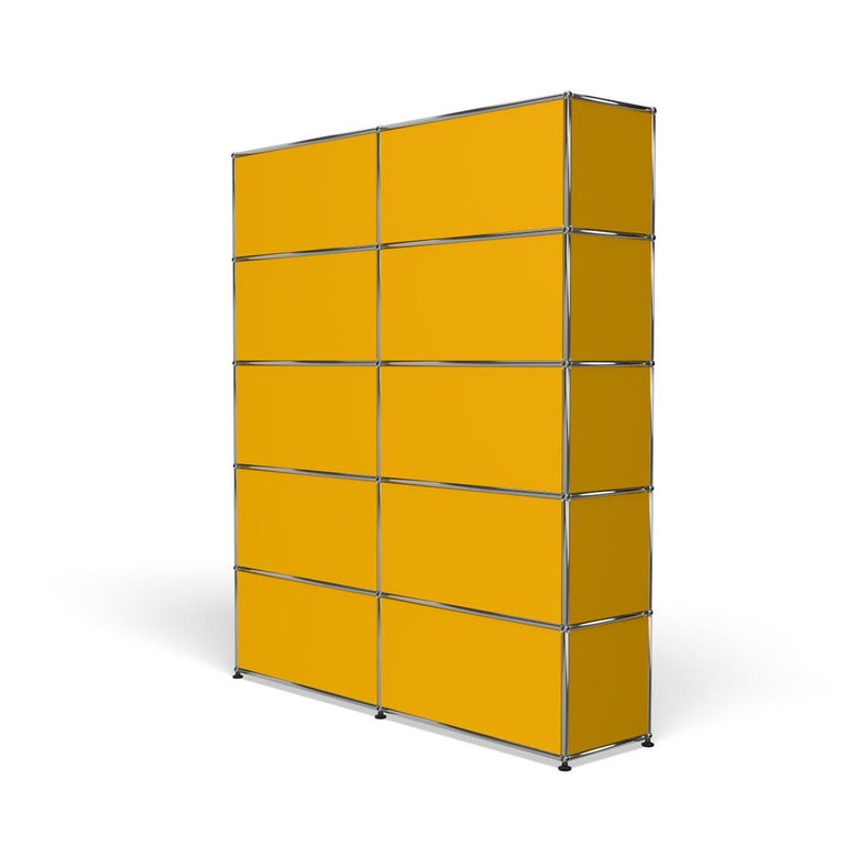 For Sale: Yellow (Golden Yellow) Haller Shelving H2 Storage System by USM 5