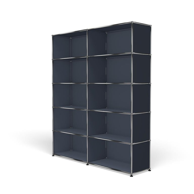 For Sale: Gray (Anthracite) Haller Shelving H2 Storage System by USM 2