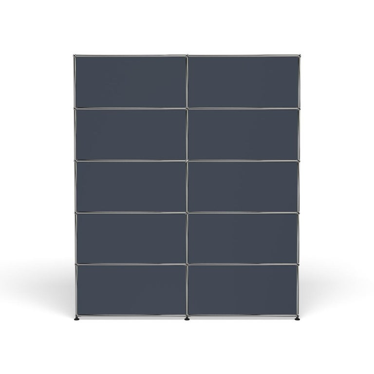 For Sale: Gray (Anthracite) Haller Shelving H2 Storage System by USM 4