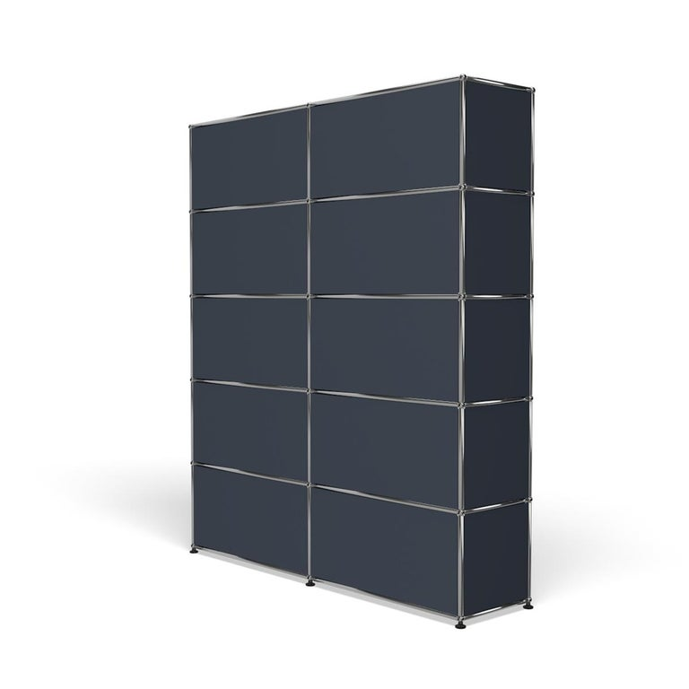 For Sale: Gray (Anthracite) Haller Shelving H2 Storage System by USM 5