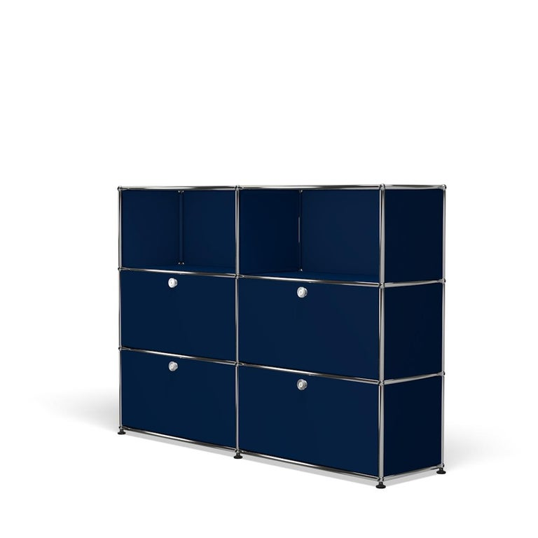 For Sale: Blue (Steel Blue) USM Haller Storage G2A Storage System 2