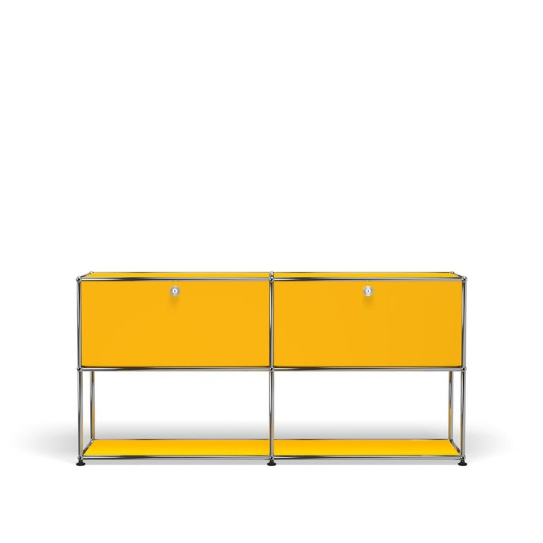 For Sale: Yellow (Golden Yellow) USM Haller Credenza F2 Storage System