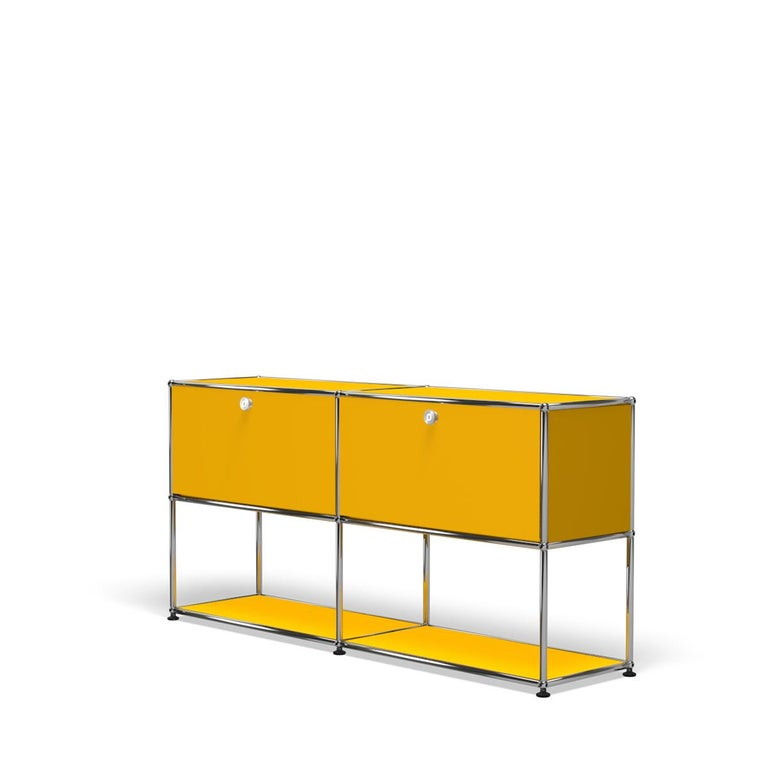 For Sale: Yellow (Golden Yellow) USM Haller Credenza F2 Storage System 2