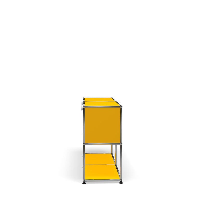 For Sale: Yellow (Golden Yellow) USM Haller Credenza F2 Storage System 3