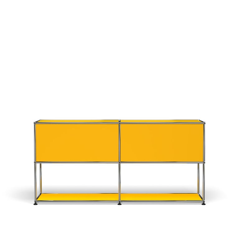 For Sale: Yellow (Golden Yellow) USM Haller Credenza F2 Storage System 4