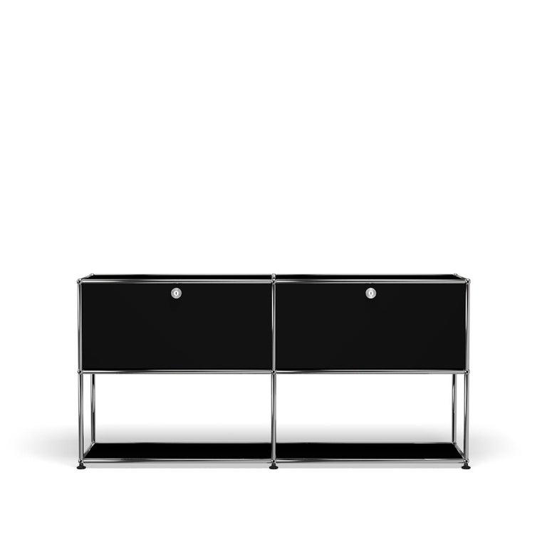 For Sale: Black (Graphite Black) USM Haller Credenza F2 Storage System