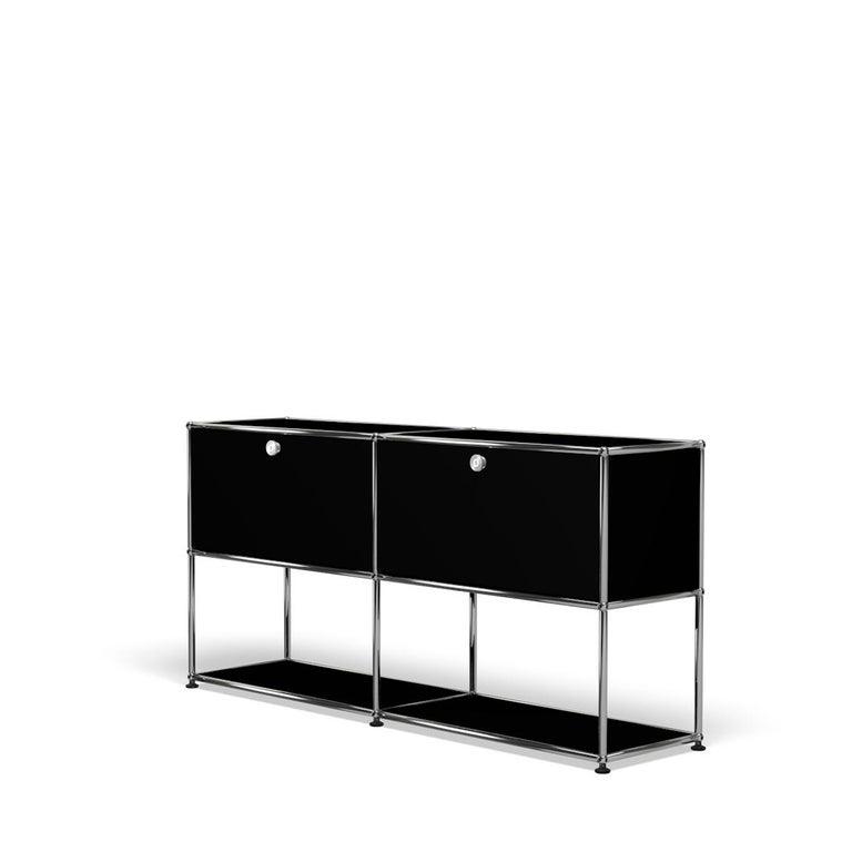 For Sale: Black (Graphite Black) USM Haller Credenza F2 Storage System 2