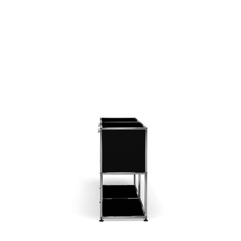 For Sale: Black (Graphite Black) USM Haller Credenza F2 Storage System 3