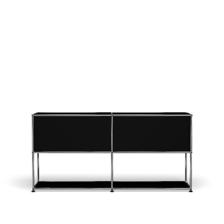 For Sale: Black (Graphite Black) USM Haller Credenza F2 Storage System 4