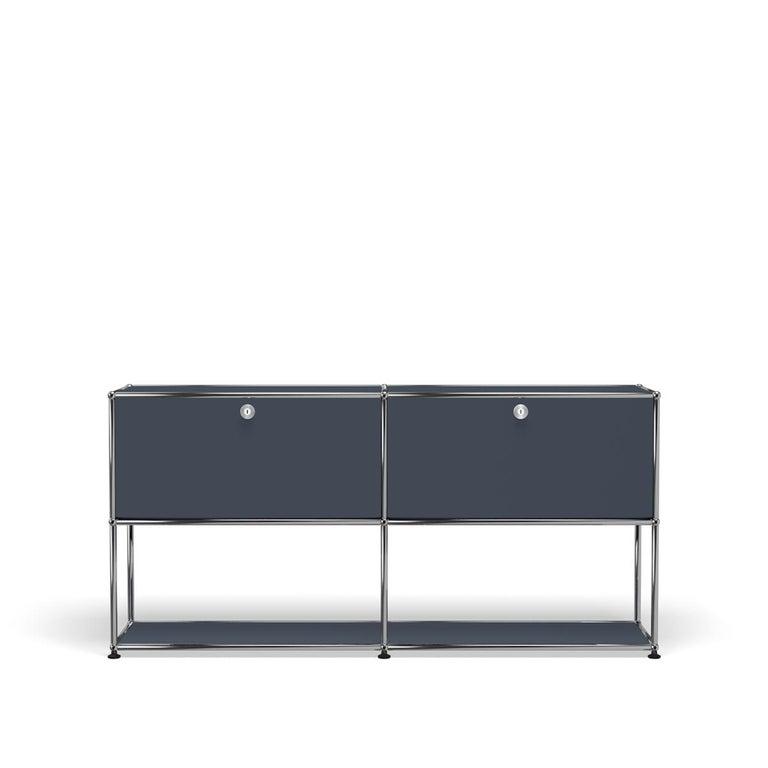 For Sale: Gray (Anthracite) USM Haller Credenza F2 Storage System