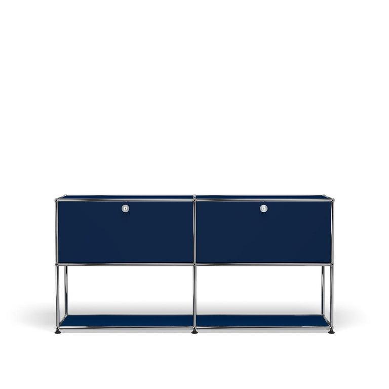 For Sale: Blue (Steel Blue) USM Haller Credenza F2 Storage System