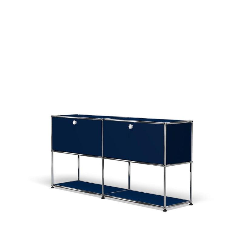 For Sale: Blue (Steel Blue) USM Haller Credenza F2 Storage System 2