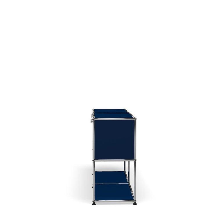 For Sale: Blue (Steel Blue) USM Haller Credenza F2 Storage System 3