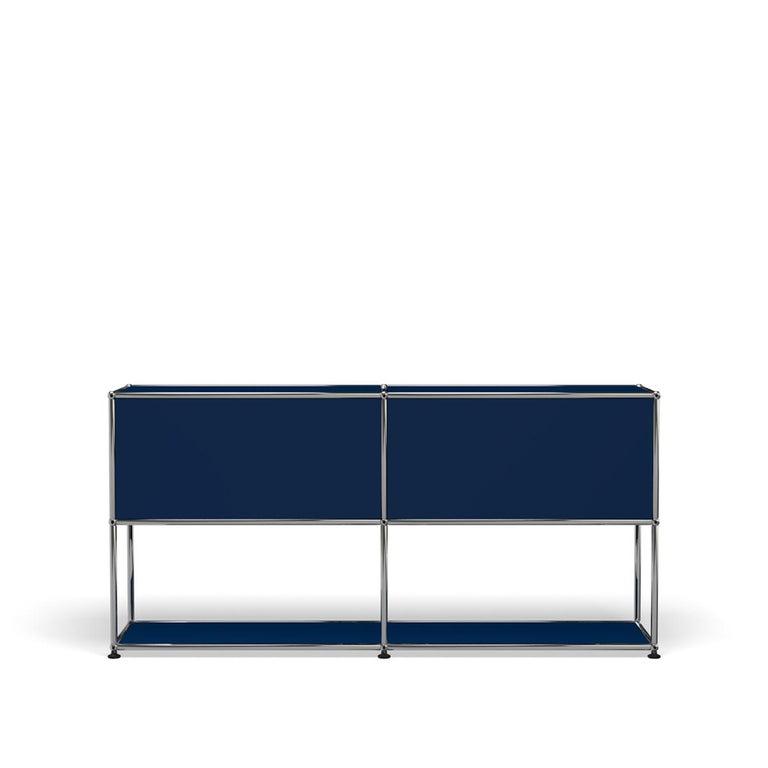For Sale: Blue (Steel Blue) USM Haller Credenza F2 Storage System 4