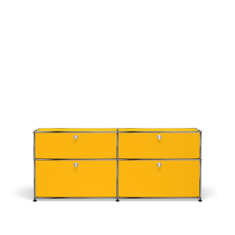 For Sale: Yellow (Golden Yellow) USM Haller Mid Credenza D Storage System