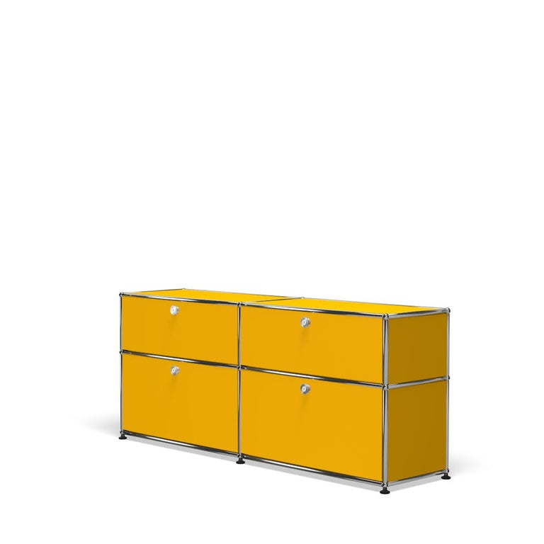 For Sale: Yellow (Golden Yellow) USM Haller Mid Credenza D Storage System 2