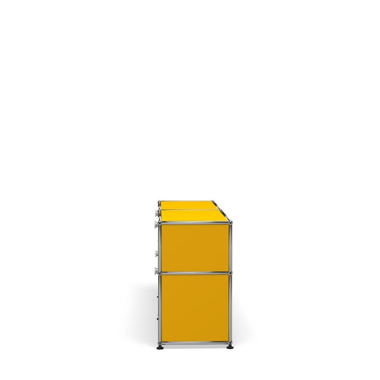 For Sale: Yellow (Golden Yellow) USM Haller Mid Credenza D Storage System 3