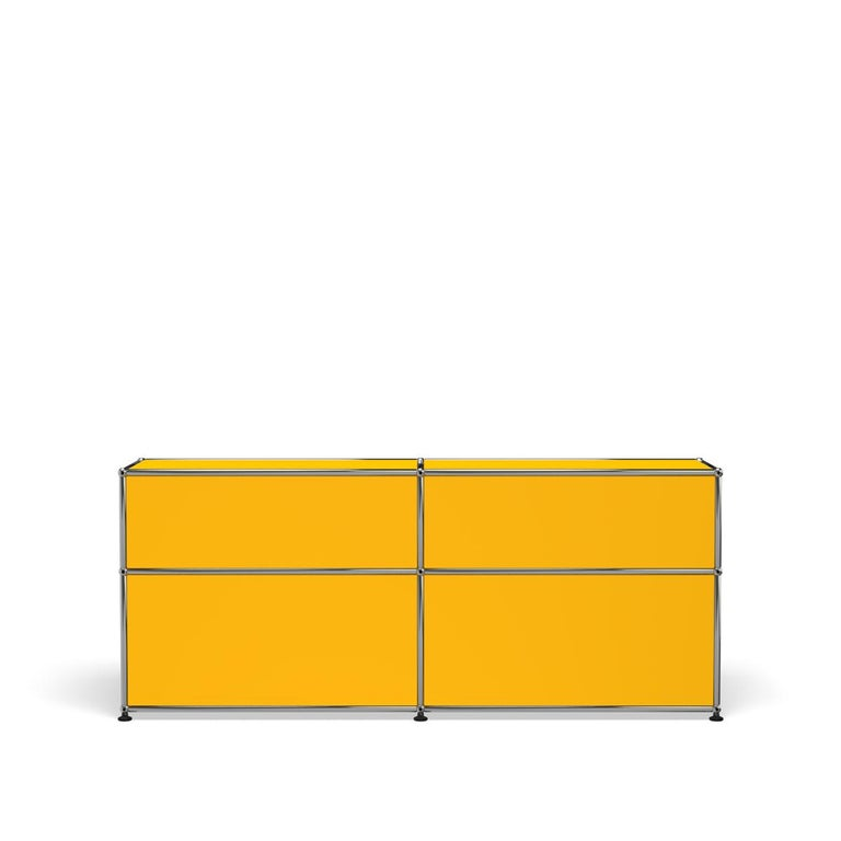 For Sale: Yellow (Golden Yellow) USM Haller Mid Credenza D Storage System 4