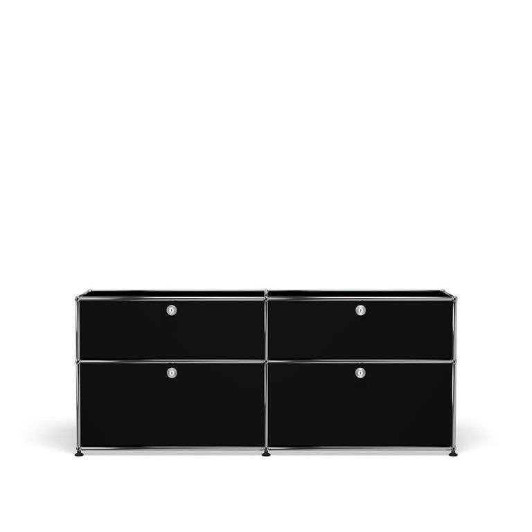 For Sale: Black (Graphite Black) USM Haller Mid Credenza D Storage System