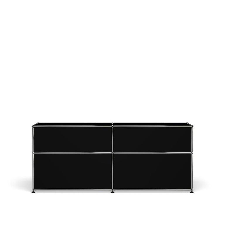 For Sale: Black (Graphite Black) USM Haller Mid Credenza D Storage System 4