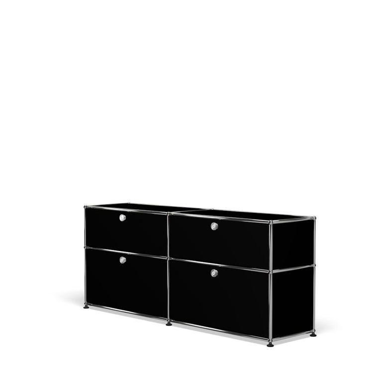 For Sale: Black (Graphite Black) USM Haller Mid Credenza D Storage System 2