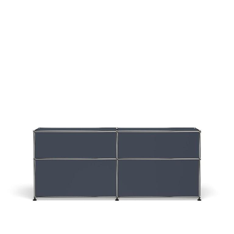 For Sale: Gray (Anthracite) USM Haller Mid Credenza D Storage System 4