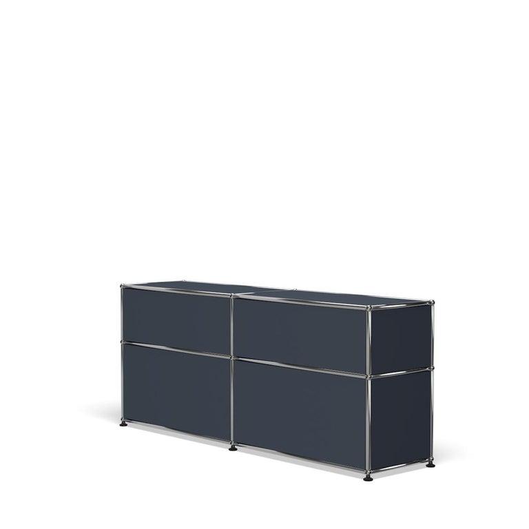 For Sale: Gray (Anthracite) USM Haller Mid Credenza D Storage System 5