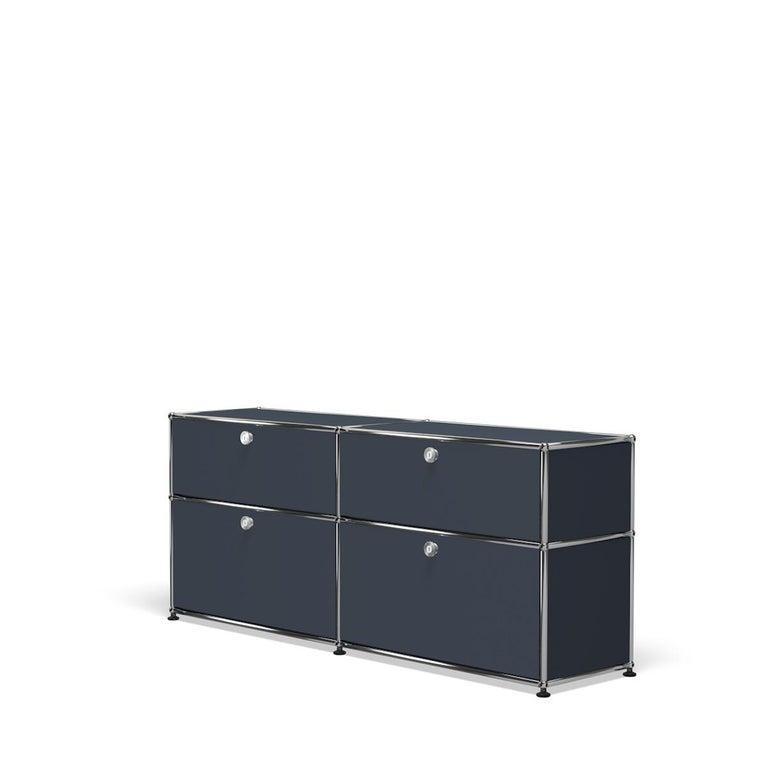 For Sale: Gray (Anthracite) USM Haller Mid Credenza D Storage System 2