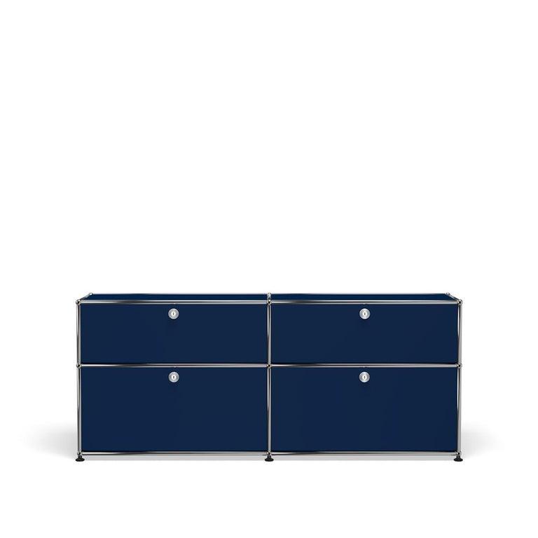 For Sale: Blue (Steel Blue) USM Haller Mid Credenza D Storage System