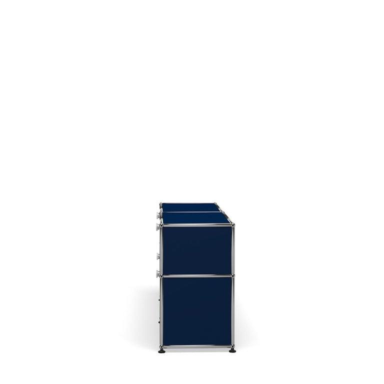 For Sale: Blue (Steel Blue) USM Haller Mid Credenza D Storage System 3