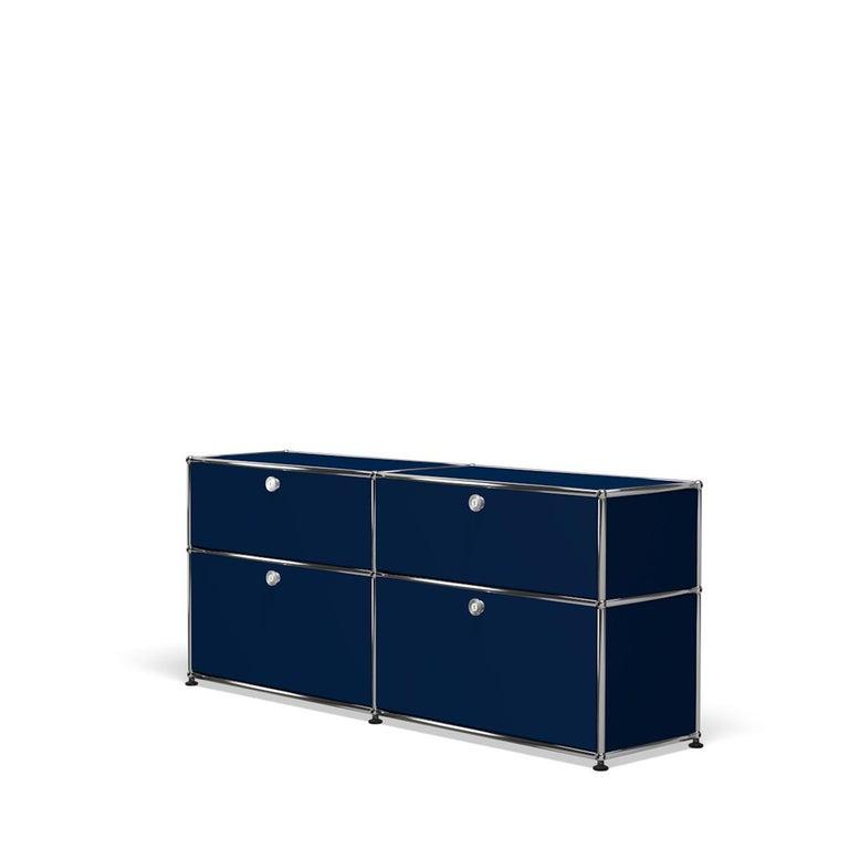 For Sale: Blue (Steel Blue) USM Haller Mid Credenza D Storage System 2