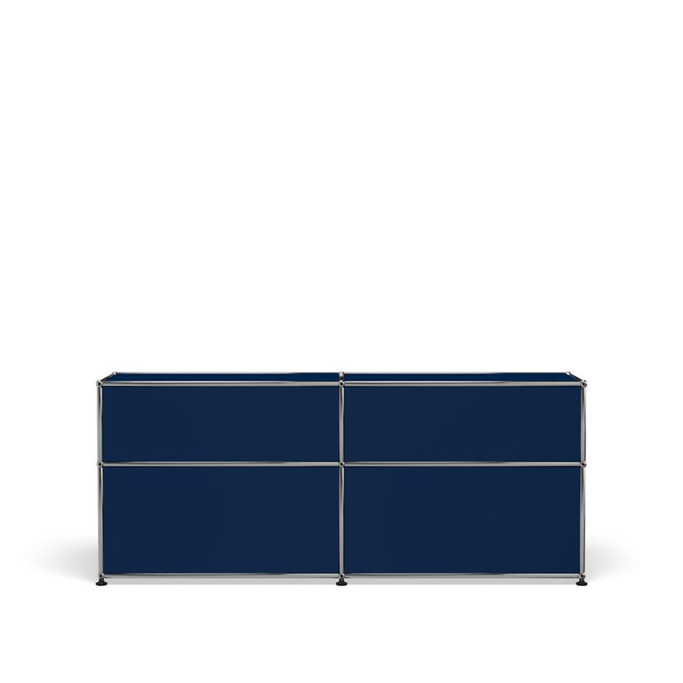 For Sale: Blue (Steel Blue) USM Haller Mid Credenza D Storage System 4
