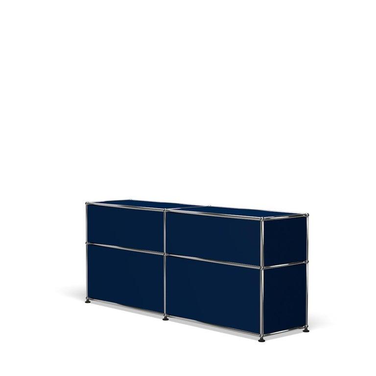 For Sale: Blue (Steel Blue) USM Haller Mid Credenza D Storage System 5