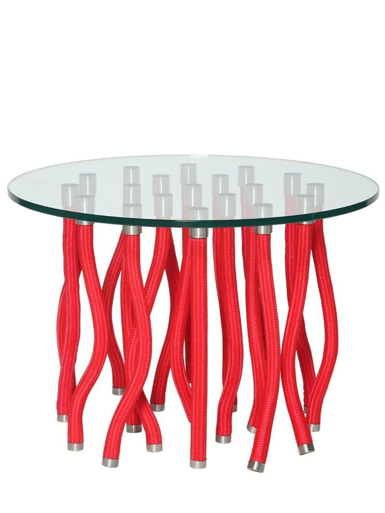 For Sale: Red (612_red) Fabio Novembre Org Console Table Steel Core and Rope Exterior for Cappellini