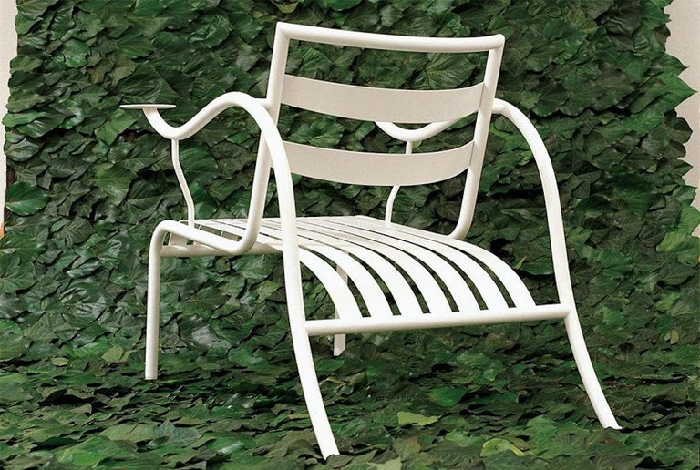 For Sale: White (427_gypsum white) Jasper Morrison Thinking Man's Outdoor Chair in Varnished Metal for Cappellini