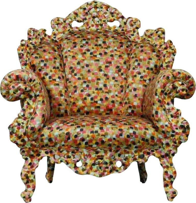 For Sale: Multi (PR2_Fabric ) Alessandro Mendini Proust Armchair in Wood Frame & Multi-Color Fabric Cappellini