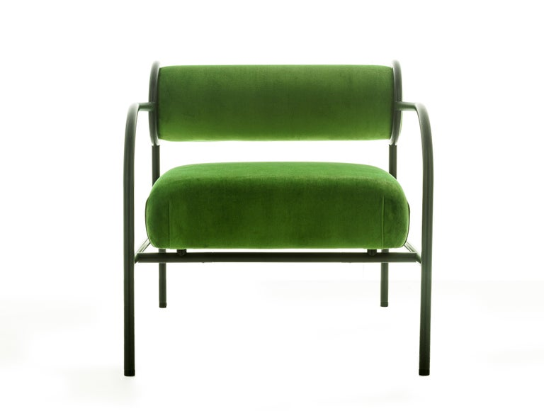 For Sale: Green (PC_17CP19 - green) Shiro Kuramata Velvet Sofa with Arms Black Edition for Cappellini, Exclusive 3