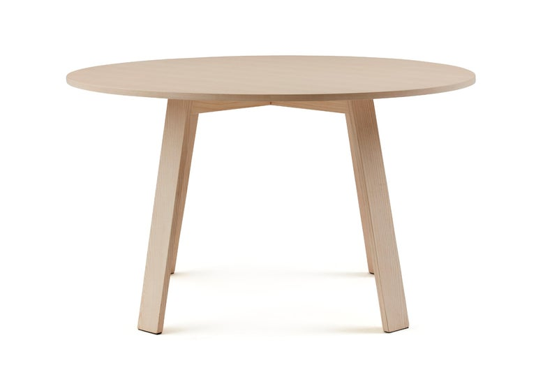 For Sale: Beige (113_Bleached Ash) Jasper Morrison Round Bac Table in Solid Ashwood for Cappellini