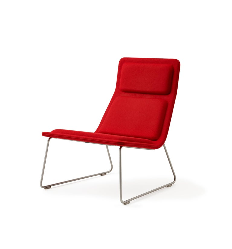 For Sale: Red (Hero - 809) Jasper Morrison Low Pad Armchair in Beech with Fabric or Leather for Cappellini 2