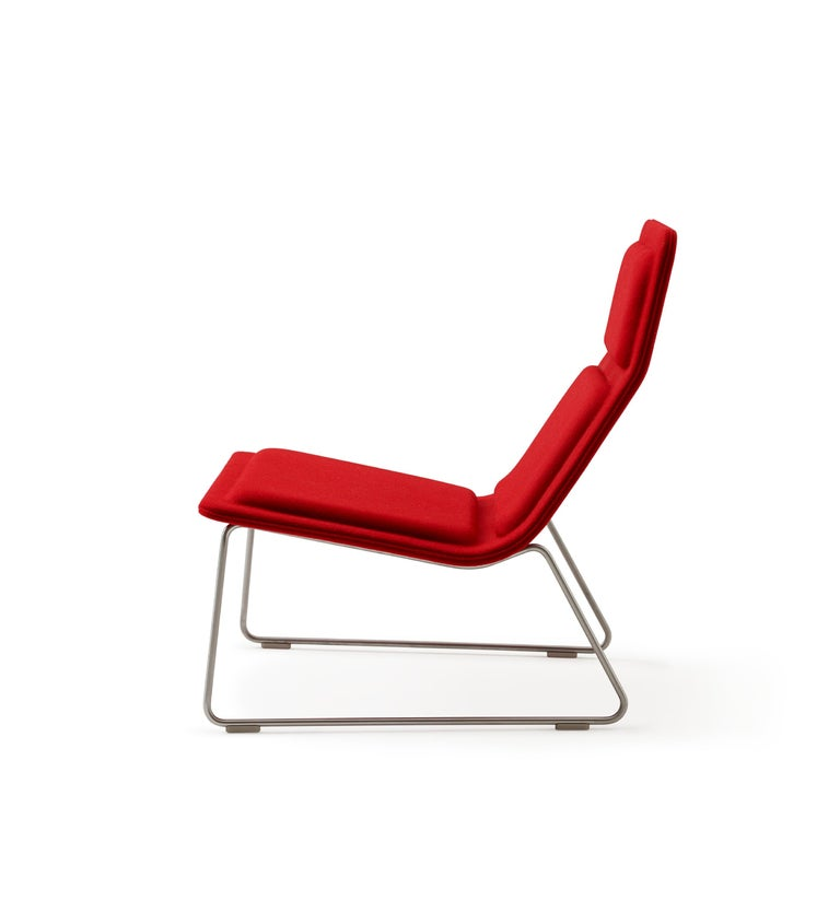 For Sale: Red (Hero - 809) Jasper Morrison Low Pad Armchair in Beech with Fabric or Leather for Cappellini 3