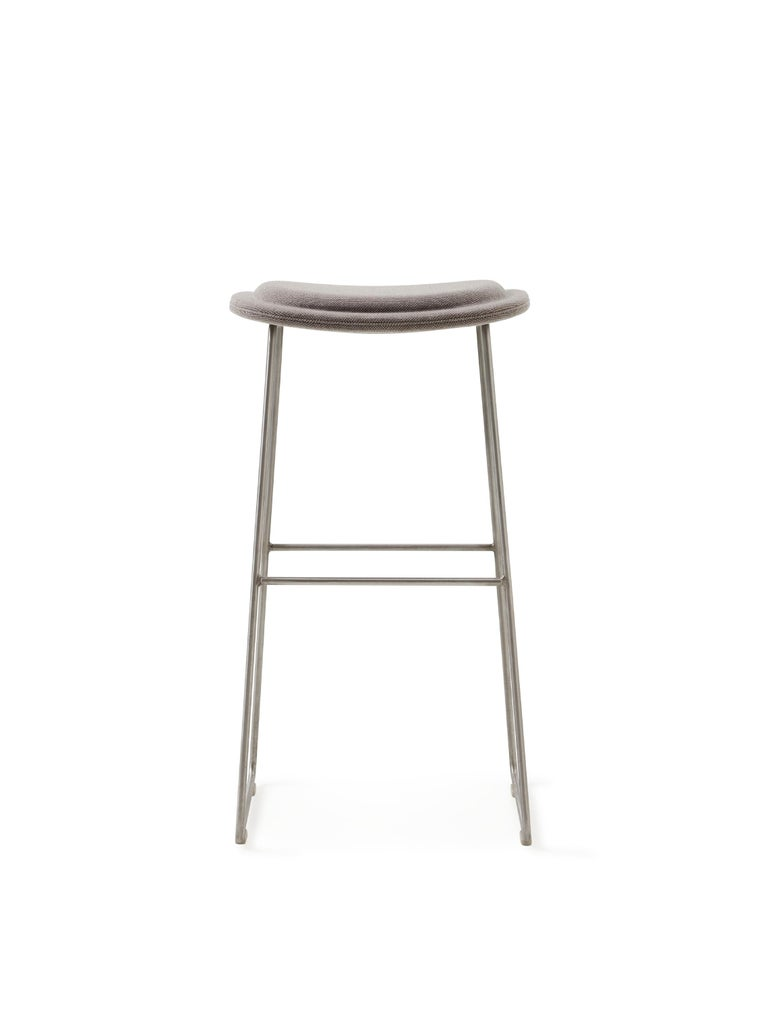 For Sale: Silver (Hallingdal 2 555) Jasper Morrison Small Hi Pad Stool in Fabric or Leather Upholstery by Cappellini 2