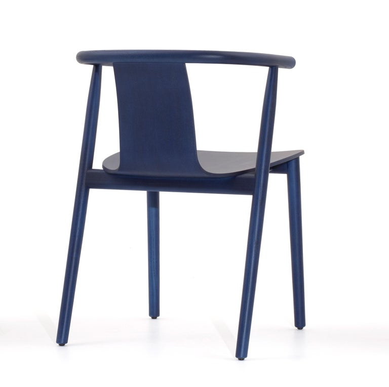 For Sale: Blue (118_BLUE SHANGHAI ANILINE ASH) Jasper Morrison Bac Stool in Solid Ashwood for Cappellini 3