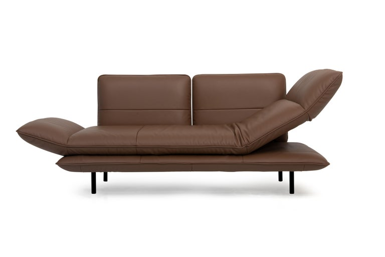 For Sale: Brown (Whisky) Juna Convertible Leather Sofa by FSM 2