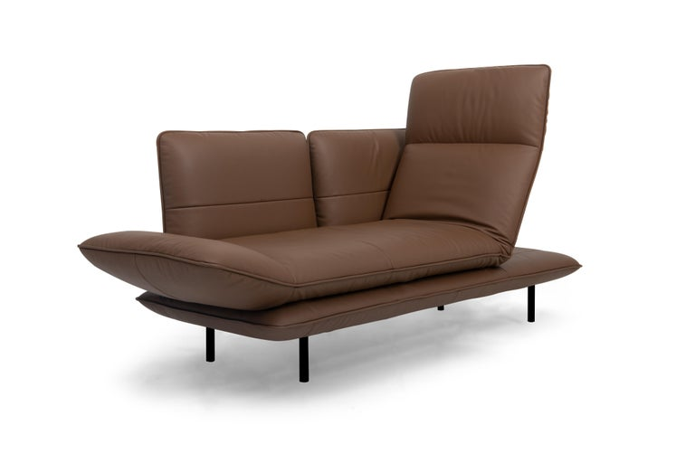 For Sale: Brown (Whisky) Juna Convertible Leather Sofa by FSM 3