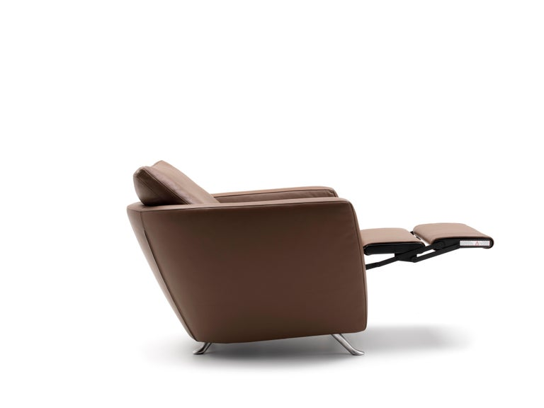 For Sale: Brown (Whisky) Sesam Adjustable Reclining Leather Armchair by FSM 3