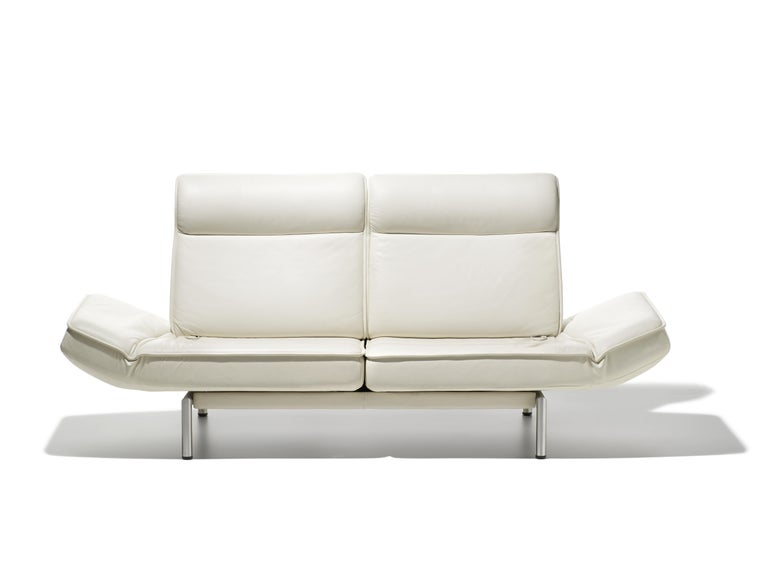 For Sale: White (Snow) DS-450 Adjustable Leather Modern Sofa or Armchair by De Sede 2