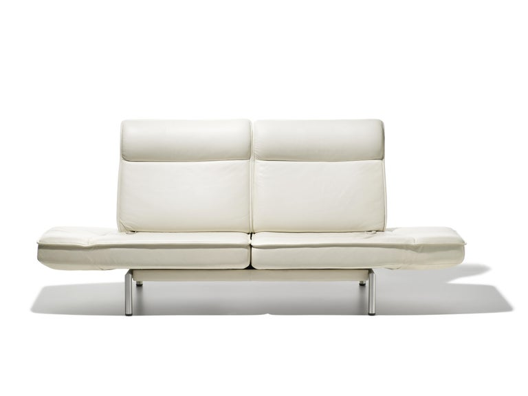 For Sale: White (Snow) DS-450 Adjustable Leather Modern Sofa or Armchair by De Sede 3