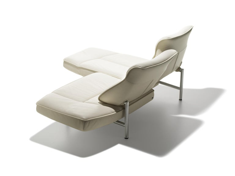 For Sale: White (Snow) DS-450 Adjustable Leather Modern Sofa or Armchair by De Sede 4